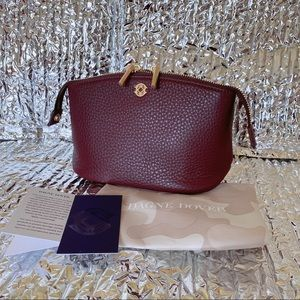 Dagne Dover small Lola Pouch Oxblood Leather